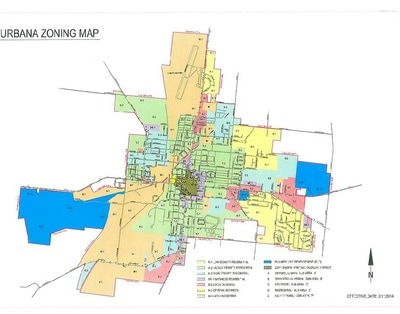 City of Urbana Zoning Map