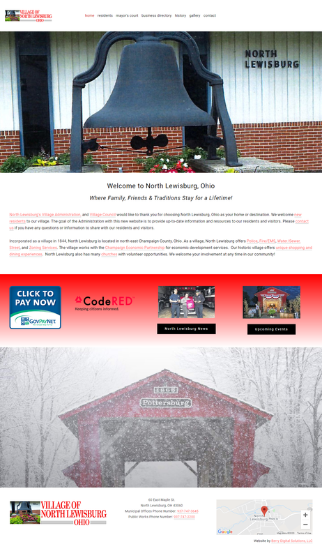 Village of North Lewisburg website